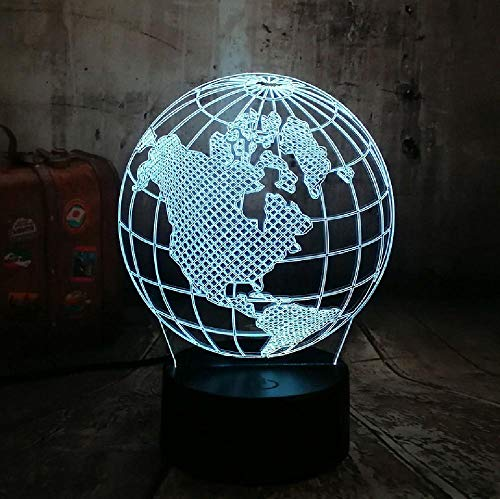 Globe Map of America 3D LED nachtlampje multicolor meerdere kleuren USB tafellamp Home Decor kerstcadeau remote telefoon Bluetooth control kleur