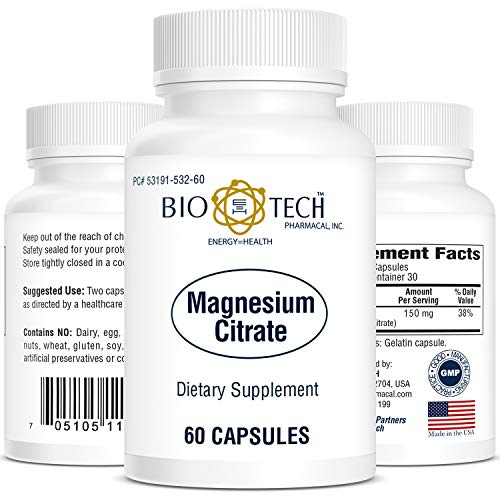 BioTech, Magnesium Citrate, 150 mg, 60 Soft Capsules, Easy to Swallow