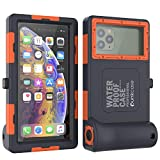 Punkcase Scuba Case Universal IPX8 Certified Waterproof Cover for Diving, Snorkelling & Snowboarding | Shutter Function | Turn Your Phone into The Ultimate Underwater Camera [Orange]