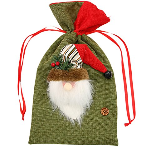 Demarkt–Navidad Dulce funcionalidad Funda Sankt Muñeco de Nieve Reno de Navidad Dulce funcionalidad Funda con cordón, Color muñeco de Nieve, tamaño 20 x 38 cm