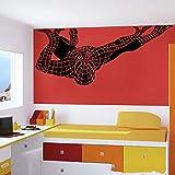 yiyitop Le Sticker Mural Spiderman garçon Chambre Chambre Spiderman Sticker Salon...