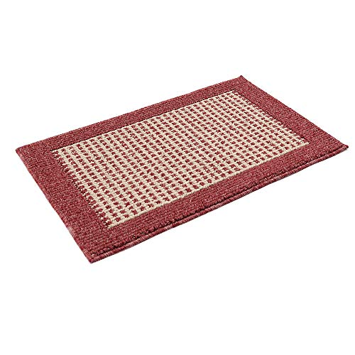 28X18 Inch Washable Kitchen Rug Mats are Made of Polypropylene Square Rug Cushion Which is Anti Slippery and Stain Resistance,Red