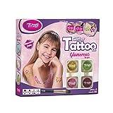 Kit de Tatuajes con Purpurina, Tatuajes temporales Tatuajes con...