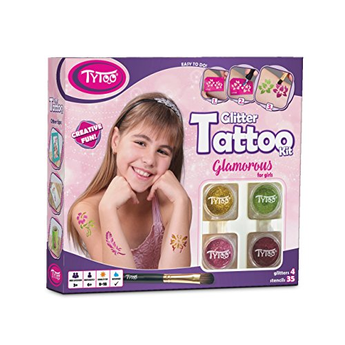 Kit de Tatuajes con Purpurina, Tatuajes temporales Tatuajes con Brillantina para Chicas...