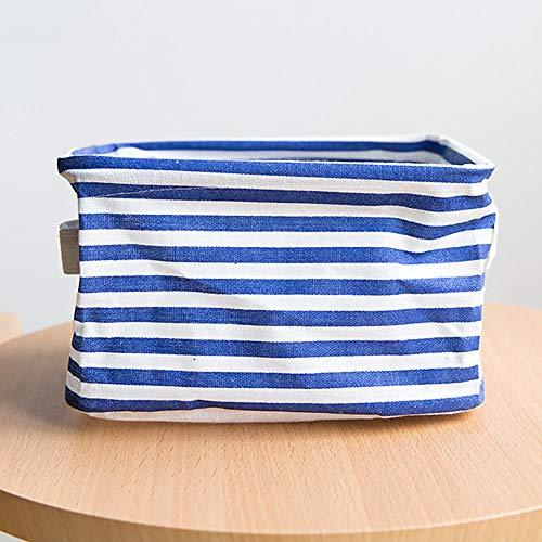 Yibuf - Cesta de almacenamiento de escritorio impermeable - Caja de almacenamiento Sundries pequeña - Bonita cesta de almacenamiento para ahorrar espacio - Organizador # B5-Blue_United_States