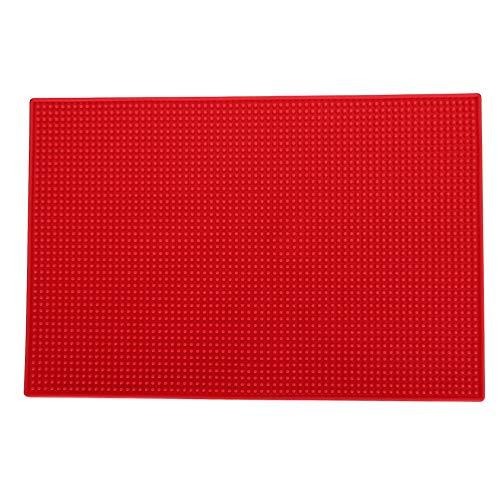 Kappersmat – kappersmat kapsalon gereedschapsopslag anti-slip pad voor haarkam elektrische tondeuse rood