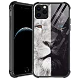 Compatible with iPhone 12 Pro Max Case,Black and White Lion iPhone 12 Pro Max Cases for Men Boys,Anti-Scratch Soft TPU Pattern Design Case for Apple iPhone 12 Pro Max 6.7-inch Black and White Lion