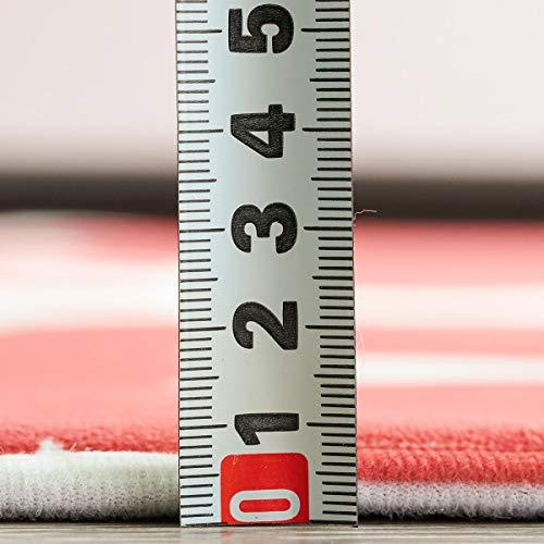 グラムスタイルキッチンマットロングマット洗える滑り止め北欧50×180cmレッド赤
