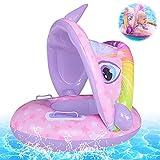 Baby Schwimmring,Baby schwimmring aufblasbarer,Baby Schwimmhilfe,Aufblasbarer schwimmreifen Kleinkind,Float Kinder Schwimmring,Kinder Schwimmreifen Spielzeug,Baby Pool Schwimmring mit Sonnenschutz