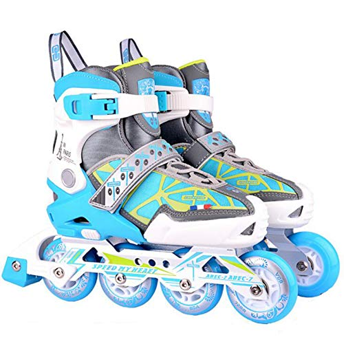 Yhjmdp Inline Skates Kinder, Mit PU Verschleißfeste Roller Skates, Beleuchteten Rädern, Für Jungen Mädchen Anfänger Damen Herren Pink-L(39-42)