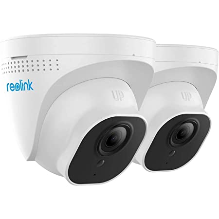 Reolink PoE IP Camera (Pack of 2) Outdoor 5MP HD Video Surveillance Work with Google Assistant, IR Night Vision Motion Detection SD Card Slot, RLC-520