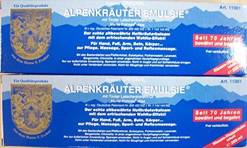 2 Tuben Alpenkräuter Emulsie 200