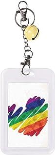 Funda protectora para tarjeta de crédito, diseño de corazón LGBT, color amarillo
