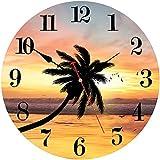 facile da leggere: orologio di parete non ha superficie di vetro, in modo da grandi numeri arabi rendono facile da leggere tempo anche dalla distanza. e 'un regalo perfetto per nonno e la nonna, i genitori o tutti gli altri hanno la vista poveri. sil...