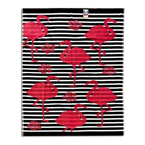 Seamar Toalla de Playa de Matrimonio Flamingo 100% Rizo de algodón 140 x 175 cm Playa Dos plazas