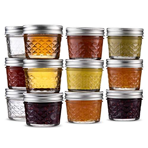 Ball Mini Crystal Jelly Jars (4 ounces) Regular Mouth Mason Jars