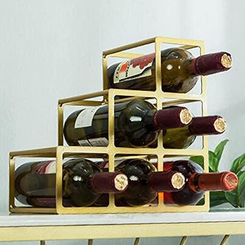 BaoGuona Hogarware Rack de Vino 6 Diseño de Metal Frote de Cobre embotellado Botella de Vino Estante de Vino Freestanding Botella de Vino.