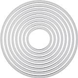 Ellison Europe Sizzix Framelits - Juego de troqueles (8 unidades), diseño circular, multicolor