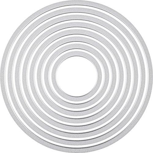 Sizzix Framelits Fustelle Set di 8 Pezzi, Cerchi