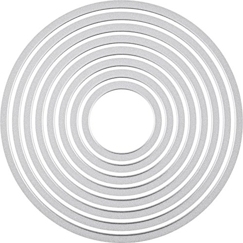 Sizzix 2118737551 Framelits Circles Set, Andere, Silber, 0