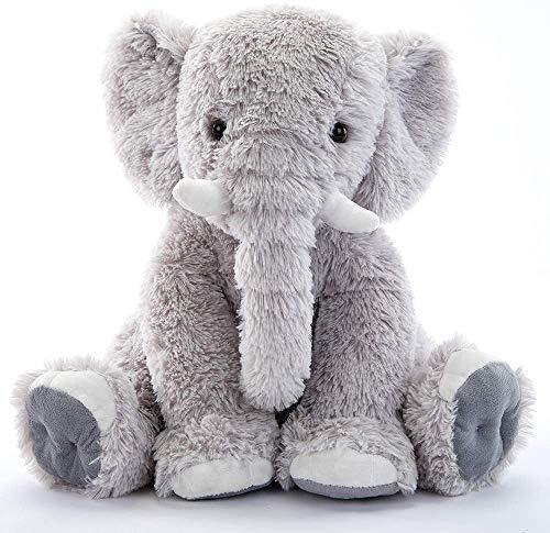 Toys Studio 19.6 Inch Stuffed Elephant Animal Soft Giant Elephant Plush Gift for Girls, Boys (Gray)