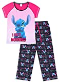 Disney Lilo and Stitch I Hate Mornings - Pijama largo para mujer, color rosa