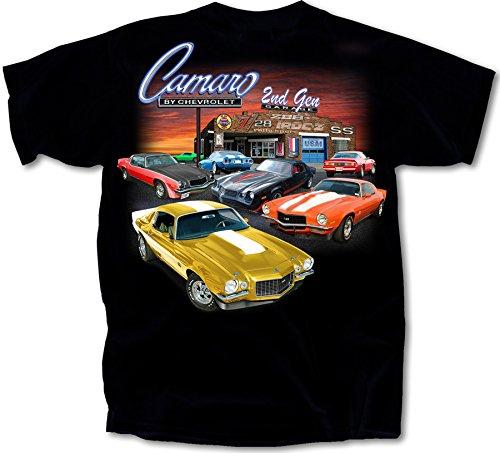 1970 - 1981 Chevy Camaro 2nd Gen Garage T-Shirt Cotton Preshrunk -By Joe Blow T's, Black, X-Large