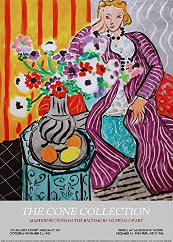 Carteles e impresiones artísticos de pared con cara de paloma de bloque de color de Matisse, pintura de lienzo sin marco de familia moderna nórdica A10 50x70cm