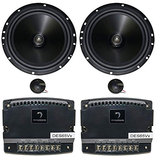 Best Deals! Diamond Audio DES65V 6.5 75W RMS Elite Series 2-Way Variable | Component Speakers | Coa...