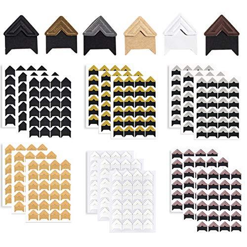 Esquinas de fotos Autoadhesivas Mengger 432Pcs Esquinas Fotografías Adhesivas pegatinas de papel para scrapbooking Álbum de Recortes