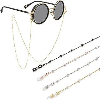 حامل سلسلة Gl (4PCS) نظارات قراءة حبل قصير للنساء الرجال