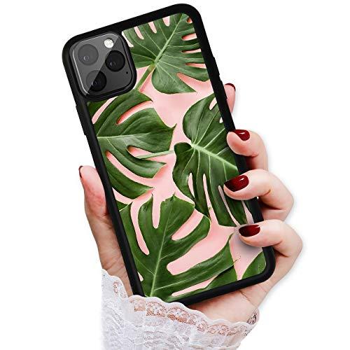 HOT12698 Schutzhülle für iPhone 12 Mini, strapazierfähig, weich, Motiv: tropische Palmenblätter