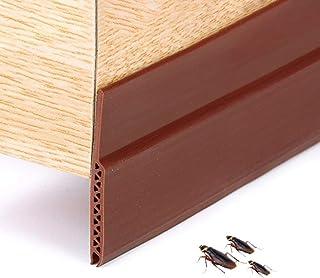 Door Bottom Seal Weather Stripping, Adhesive Under Door Sweep Weather Soundproof Rubber Bottom Draft Stopper Draught Exclu...
