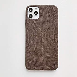 For iPhone 11 Fabric Style TPU Protective Shell New (Red) Hengk (Color : Brown)