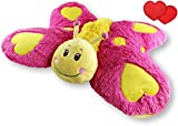 Butterfly Zoopurr Pets 24' Large, 2-in-1 Stuffed Animal and Pillow with Embroidered Eyes | Expandable Cushion | Premium Soft Plush Cute Toy Travel Comfort | Great Present for Toddlers & Kids