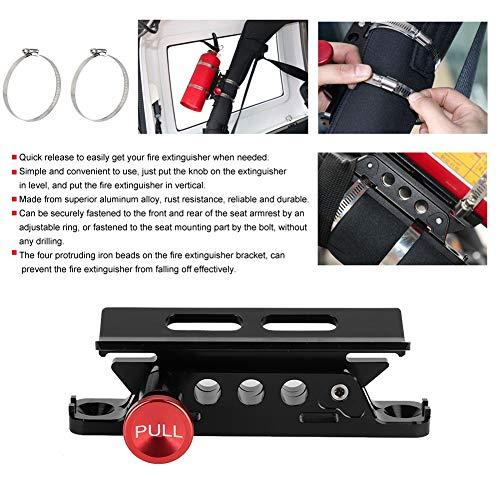 Senyar Car Extinguisher Mount,Modified Aluminum Alloy Adjustable Fire Extinguisher Mount Bracket with Clamps