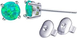 Orecchino a vite prigioniera opale per le donne 6MM