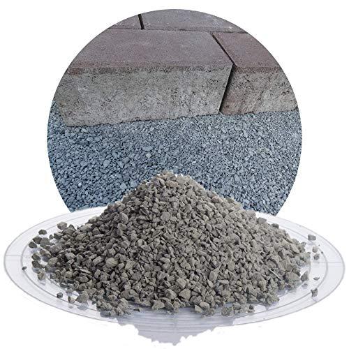 25 kg Diabas Pflastersplitt grau in 0-5 mm von Schicker Mineral für eine stabile, drainagefähige und witterungsbeständige Pflasterbettung