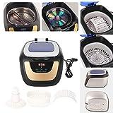 FENGCLOCK Joyería limpiadora ultrasónica, hogar Completamente automática para Gafas de casa Dentaduras Limpiador ultrasónica, Herramientas de Limpieza de precisión de la Pieza
