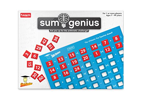 Funskool Games – Sum Genius, Educational Game for Children, Maths, The Ultimate Fun Equation Game, Kids and Family, 1+ Player, 7 & Above,Multicolor