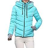 serliy😛Frauen-Starke Oberbekleidung-mit Kapuze Mantel Kurze dünne Baumwolle-aufgefüllte Jacken...