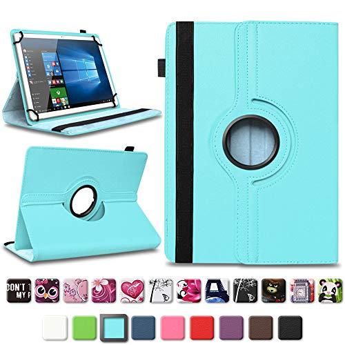 NAmobile Tablet Schutzhülle kompatibel für Lenovo TAB3 10 Business/Plus Tasche Tablettasche Hülle Standfunktion 360° drehbar Cover Universal Tablethülle Case, Farben:Türkis
