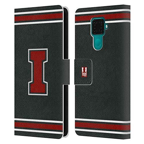 Head Case Designs Rosso I Team del College Cover in Pelle a Portafoglio Compatibile con Huawei Nova 5i PRO/Mate 30 Lite