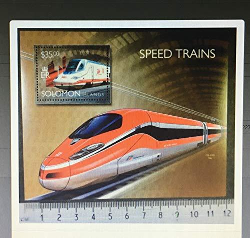 Solomon Islands 2014 speed trains transport railways etr1000 talgo avril s/sheet mnh JandRStamps 453469