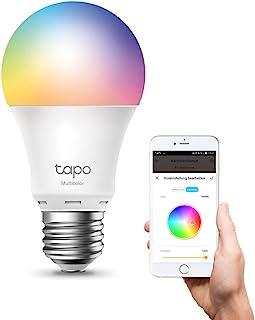 TP-Link Lampadina WiFi Intelligente LED Smart Multicolore, E27 Lampadina Compatibile con Alexa e Google Home, 806 lumen, 8...