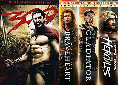 Dude Bro Weekly update Max 60% OFF Movies Guy: Braveheart Hercules 300 + Gladiator DV