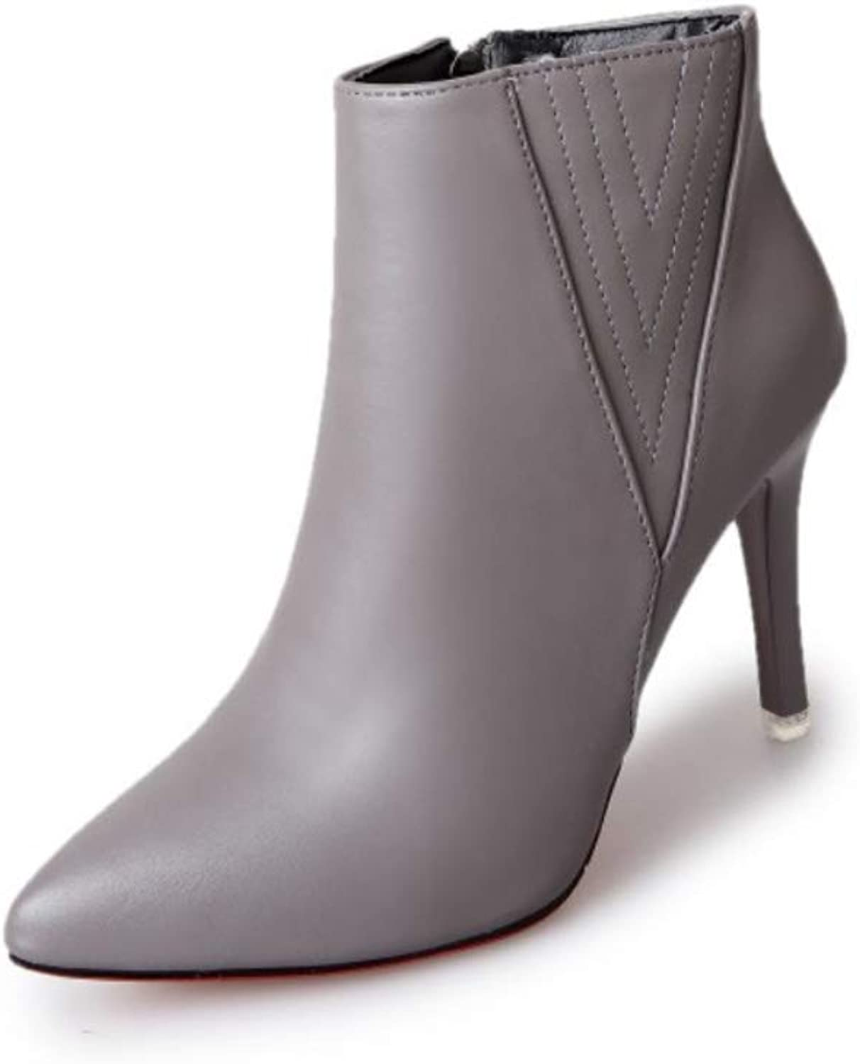 Women's Ankle Boots 2018 Fall Fashion Boots Stiletto Heel Pointed Toe Booties