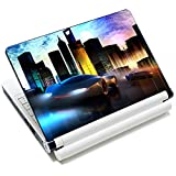 City Car 12.1 13 13.3 14 15 15.4 15.6 Inches Personalized Laptop Skin Sticker Decal Universal Netbook Skin Sticker Reusable Notebook PC Art Decal Protector Cover Case by AORTDES
