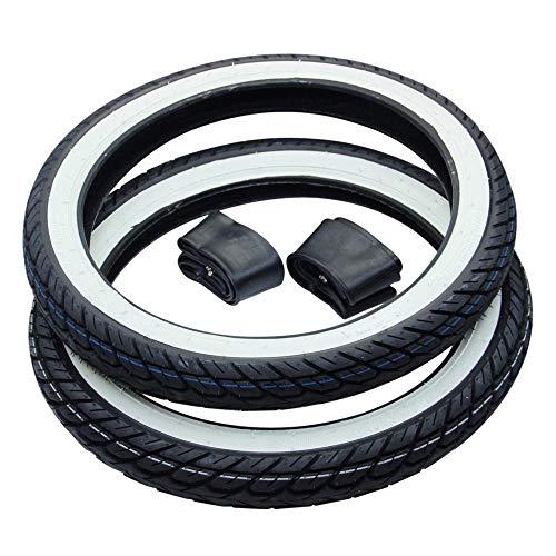 Kreidler Florett RS RMC 2X Weißwand Reifen 2 3/4 x 17 2,75-17 + Schlauch Kenda K418 Street