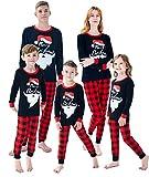 Family Matching Christmas Pjs Christmas Santa Claus Men's Pajamas Sleepwear Size 3XL Black